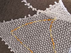My very first cotton lace crochet shawl. I added some frills of my own  $$25,00