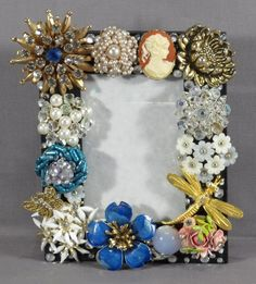 Vintage costume jewelry frame