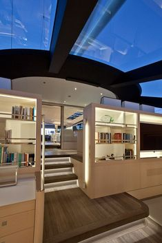 Sailing yacht Zefira by Fitzroy Yachts, Dubois Naval Architects and Remi Tessier #luxuryyachtinterior