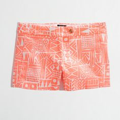 Factory 3 printed stretch chino short