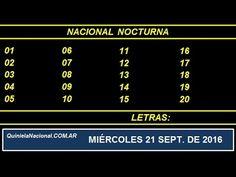 Quiniela Nacional Nocturna Miercoles 21 de Septiembre de 2016 www.quinielanacional.com.ar