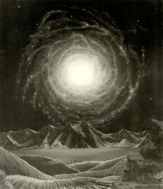 """ooblium: """"The Milky Way Galaxy by Chesley Bonestell Oil on canvas """""""
