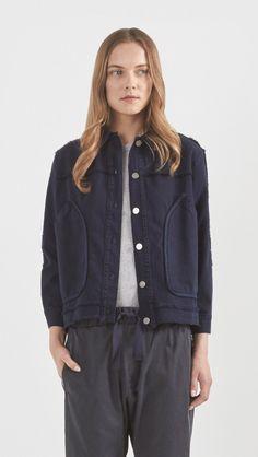 Rachel Comey Parade Denim Jacket in Natural Indigo | The Dreslyn