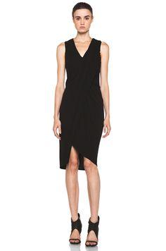 Helmut Lang Helix Jersey Dress in Black