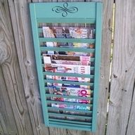 better homes and gardens recycled wooden shutter used for keys and mail - Google Search organizational-ideas