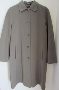 Gallery Trench Coat S Small Brown Green Removable Liner Womens #Gallery #Trench