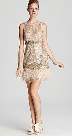 fancy feather dress!