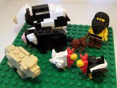 LEGO farm animals Lego Animals, Farm Animals, Lego Creator, The Creator, Lego Advent, Lego Challenge, Lego Castle, Lego Architecture, Lego Projects