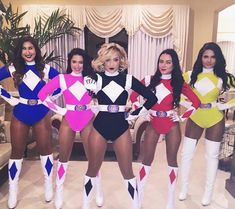 Halloween is a time to pull out some unique Halloween costumes for best friends! So we found some great Group Halloween Costumes for you and your best friends. Look at a list of these super cool Girlfriend Group Halloween Costumes, and you can find s Costume Halloween, Power Rangers Halloween Costume, Best Group Halloween Costumes, Girl Group Costumes, Halloween Party, Costume Ideas For Groups, Girl Halloween Costumes College, Teen Costumes, Family Halloween
