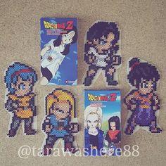 Made these before awhile ago but made them again last night! #perlerbeads #perler #hama #hamabeads #artkal #fusebeads #beadart #kandi #rave #plur #dbz #dragonball #dragonballz #goku #vegeta #bulma #anime #manga #igerspixelart #dbzart #dbgt #dbsuper #dbs #justnerdthings