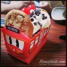 Red Trolley Sundae #Disneyland  I have heard that these Disney California Adventure sundaes were discontinued.