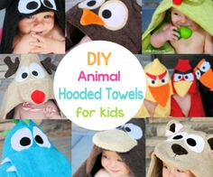 Animal hooded towels for toddlers and babies - use me