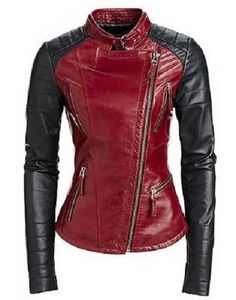 World Leather Moto Genuine Lambskin Leather Jacket Stylish Biker Black Red. Find new offer and Similar products for Leather World Ltd. World Leather Moto Genuine Lambskin Leather Jacket Stylish Biker Black Red. Biker Style, Jacket Style, Pu Jacket, Riding Jacket, Mode Rock, Look Fashion, Womens Fashion, Sporty Fashion, Ski Fashion