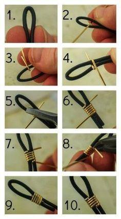 #DIY #JEWELRY How to Finish Leather Cord with Wire   Unkamen Supplies by mmdomDeus Lust darauf mit Schmuck Geld zu verdienen? www.silandu.de