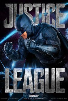 Justice League Movie Poster 2017 Featuring Ben Afleck as Batman, Check out 19 Justice League Easter Eggs - DigitalEntertainmentReview.com