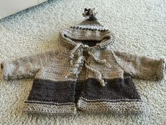 Baby Hoody Jacket Hand Knit One of a Kind see at Charletown Marketplace
