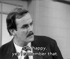 John Cleese as Basil Fawlty in Fawlty Towers British Humor, British Comedy, English Comedy, British Sitcoms, Fawlty Towers, Real Tv, Michael Palin, Tv Series To Watch, Monty Python