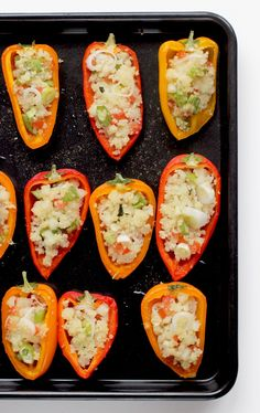 Vibrant cous cous stuffed mini peppers packed with fresh, summer flavours- Guaranteed to be the star at your next party, plus they