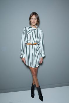 Alexa Chung at London Fashion Week Spring 2016. See our best-dressed picks here