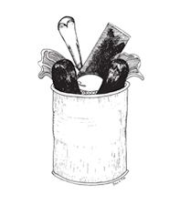 tin food illustration