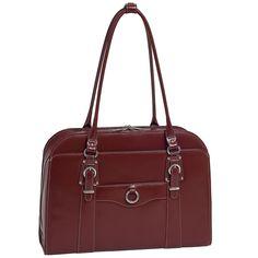 McKlein® Hillside 96526 Red Leather Ladies' Briefcase