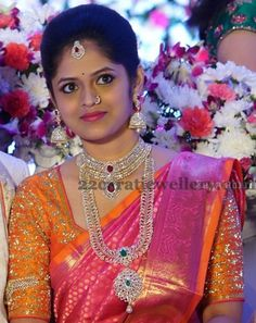 south_indian_bride_diamond_jewellery More south_indian_bride_diamond_jewellery Indian Jewellery Design, South Indian Jewellery, Indian Jewelry, Jewelry Design, Jewellery Photo, Cz Jewellery, Jewelry Ideas, Bridal Looks, Bridal Style
