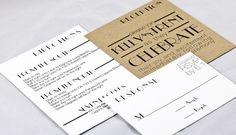Retro Art Deco invitations