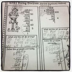 Christmas Division Fun in Grade! I like how the elf did the problem incorrectly and the students really have to dissect where it went wrong and why. Good reasons and thinking skills here. Just up my alley! Division Activities, Math Division, Math Activities, Division Strategies, Long Division, Christmas Worksheets, Christmas Math, Christmas Activites, Math For Kids