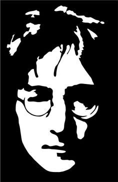 John Lennon Beatles Stencil Painting on Canvas by etsy Beatles Art, The Beatles, Art Pop, John Lenon, Portrait, Rock Poster, Scroll Saw Patterns, Silhouette Art, Stencil Painting