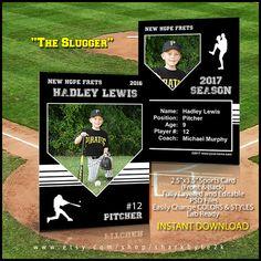 Baseball Card Templates - Free, blank, printable, customize ...