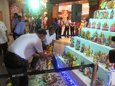 Colorful Navrati Golu display at RMKV