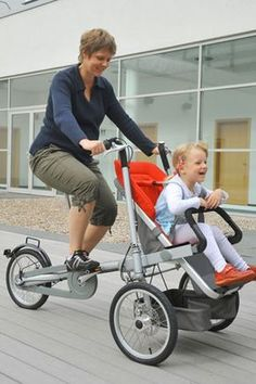 Taga is a new style of bike, which just scored a Eurobike 2008 Award and the Kind and Jugend Innovation Award. Taga combines the benefits of a premium stroller and a carrier bicycle to create a new transportation modality.