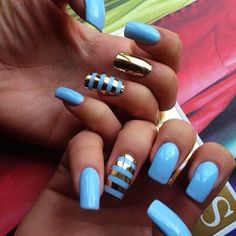 Simple Nail Art Designs for Short Nails11