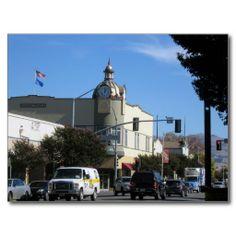 Downtown Hollister, California Post Card