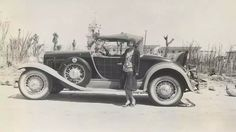 Another rare and racy automobile, this 1930 Willys-Knight Great Six Plaidside roadster, styled by Amos Northup.
