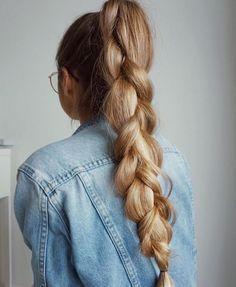 hair style braids ponytail