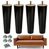 AORYVIC 8 inch Wood Furniture Legs Replacement Sofa Legs Pack of 4 for Couch Feet Chest of Drawers Cabinet DIY Furniture Project with Pre-drilled Inch Bolt Wooden Furniture Legs, Acrylic Furniture, Wood Sofa, Black Furniture, Chest Furniture, Kitchen Cabinets With Legs, Diy Cabinets, Kitchen Sofa, Diy Daybed