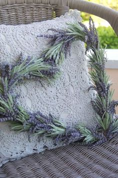 lavender heart wreath...heart-shaped wreaths aren't really my thing, but I like the simplicity of this one and the mix of green and purple.