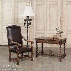 Antique Office Furniture | Antique Desks & Secretaries | Barley Twist Walnut Writing Table | www.inessa.com