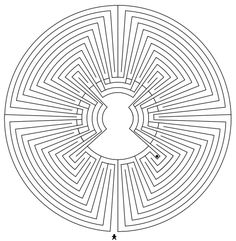 The Labyrinth type Chartres in the Man-in-the-Maze style Man In The Maze, Labyrinth Maze, Walking Meditation, Labyrinths, Guy Drawing, Portal, Coloring Pages, Old Things, Type