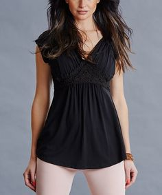 Another great find on #zulily! Black Shelley Maternity/Nursing Top #zulilyfinds