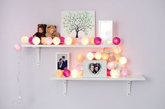 cotton ball lights in baby room
