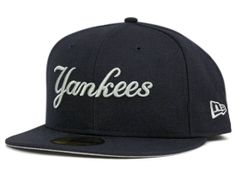 New York Yankees Script 59Fifty Fitted Cap by NEW ERA x MLB