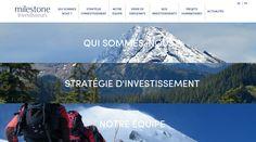 http://www.milestone-investisseurs.com/ #website #webdesign #Everest #blue #mountains