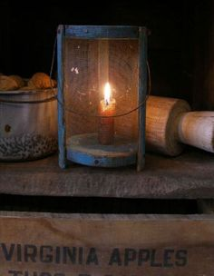 Primitive candle lamp