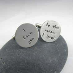 I Love You to the Moon and Back Cuff Links by HotaruJewelry