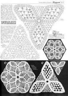 "Photo from album ""Дуплет on Yandex. Crochet Stitches Chart, Crochet Doily Diagram, Crochet Triangle, Crochet Flower Patterns, Doily Patterns, Thread Crochet, Filet Crochet, Crochet Motif, Crochet Designs"