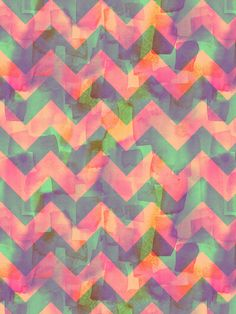 Painted Chevron II Art Print by Schatzibrown #chevron #pattern #watercolor