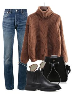 """""""Fall vibes"""" by camilae97 ❤ liked on Polyvore featuring RE/DONE and CÉLINE"""