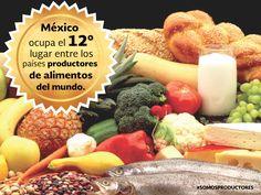 México ocupa el 12° lugar entre los países productores de alimentos del mundo. SAGARPA SAGARPAMX #SomosProductores